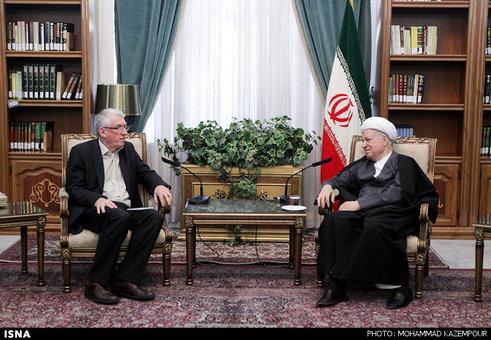 دیدار نماینده سازمان ملل در امور پناهندگان در ایران با آیتالله هاشمی رفسنجانی