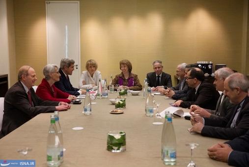 دیدار سه جانبه ظریف ، اشتون و جان کری در روز سوم مذاکرات