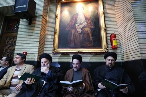 حجت الاسلام سیّد حسن خمینی، حجت الاسلام  سیّدمحمد خاتمی و آیتالله سیّد محمّد موسوی بجنوردی