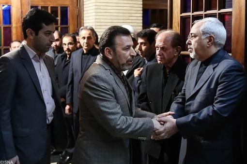 محمود واعظی وزیر ارتباطات و فناوری اطلاعات و محمد جواد ظریف وزیر امور خارجه