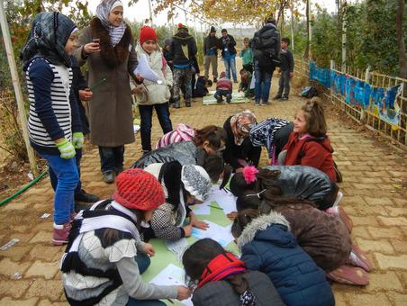 مدرسه پناهندگان سوری در جنوب ترکیه با نام شکوفه- Clare Richardson