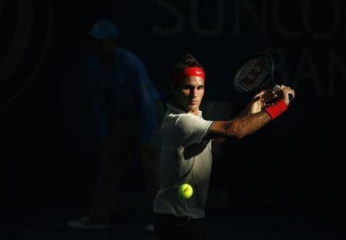فدرر آخرین مرحله از تورنومنت پایانی تور جهانی تنیس مردان در شهر لندن برگزار شد -REUTERS/Jason Reed