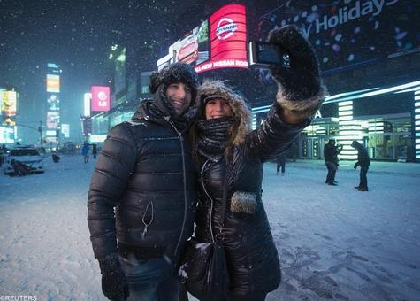 عکس های یادگاری در برف