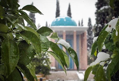 آرامگاه سعدی روسفید شدISNA