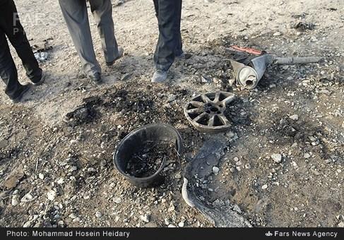 قطعات خودروی منهدم شده بر اثر انفجار TNT