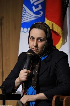 زهرا رحیمی فعال اجتماعی و مدیر جمعیت امداد دانشجویی-مردمی امام علی (ع)