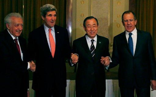 به گزارش منابع آگاه  از مذاکرات ژنو۲، با توجه به اصرار انتقال قدرت از سوی جبهه مخالف حکومت سوریه و اظهارات ابراهیمی در خصوص عدم  امید به توافق طرفین در روزهای آینده، شکست مذاکرت موسوم به ژنو۲ بصورت قریب الوقوع محتمل بنظر میرسد/رویترز