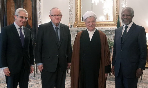 دیدار کوفی عنان با رئیس مجمع تشخیص مصلحت نظام/تسنیم
