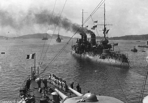 تنگه داردانل و کشتیهای جنگی فرانسه در سال ۱۹۱۵