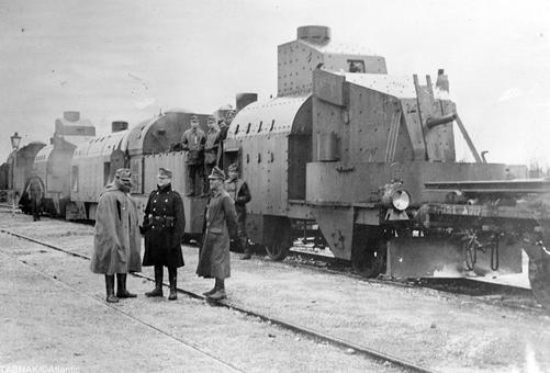 قطار زرهی اتریش در گالیسیا