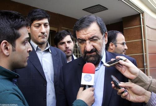حضور محسن رضایی دبیر مجمع تشخیص مصلحت نظام در بیمارستان بهمن