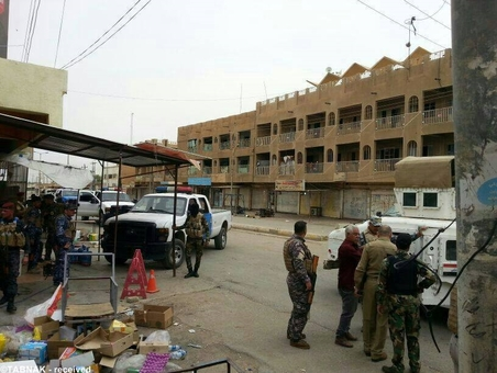 حضور ارتش عراق در منطقه درگیری