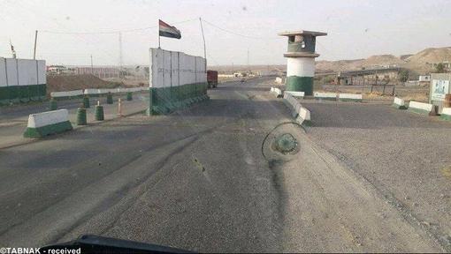 پست رها شده ورودی شهر تکریت