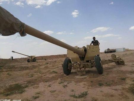 ادوات نظامی سنگین مصادره شده توسط داعش