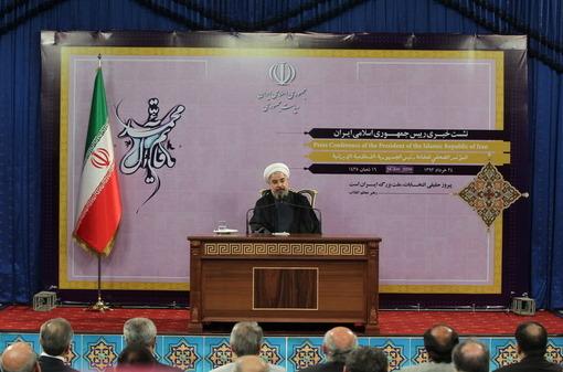 نشست خبری رئیس جمهور با نمایندگان رسانه ها در تهران/President O W