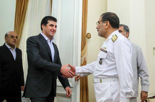 دیدار نیچروان بارزانی، نخست وزیر اقلیم کردستان عراق با علی شمخانی/ISNA