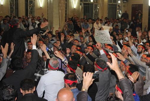 تجمع مدافعان حرم در اردبیل/ISNA