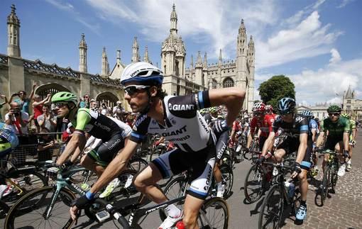 مرحله سوم مسابقات توردوفرانس به مسافت ۱۱۵ کیلومتر از کمبریج آغاز شد و در لندن به پایان رسید./Reuters