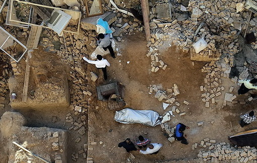 ریزش دوباره و تأسفبار ساختمان مسکونی ـ مشهد/TASNIM