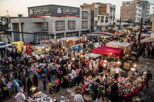 خرید شب عید فطر - اهواز/ISNA
