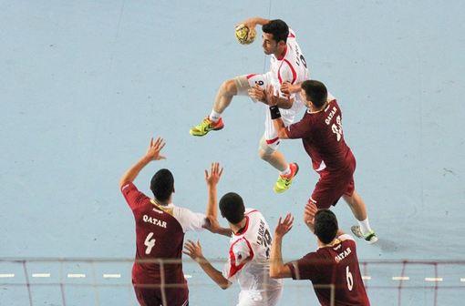 دیدار تیمهای هندبال جوانان ایران و قطر./ISNA