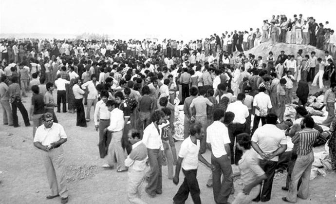دفن سیل کشته های سینمارکس آبادان