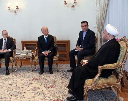 دیدار یوکیا آمانو، مدیر کل آژانس بینالمللی انرژی اتمی با رئیس جمهور/IRNA