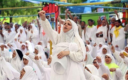 مراسم برائت از مشرکین حجاج ایرانی./tasnim