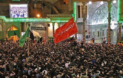 سومین شب از مراسم عزاداری مسلمیه در آستان حضرت عبدالعظیم حسنی(ع)./tasnim