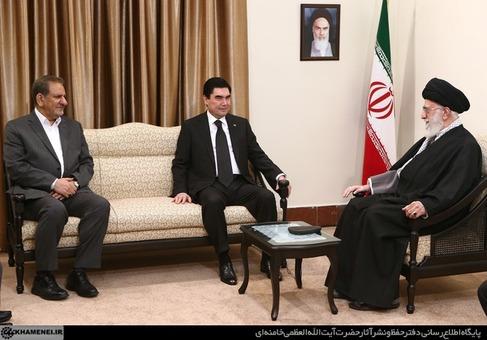دیدار رییس جمهور ترکمنستان با رهبر انقلاب اسلامی