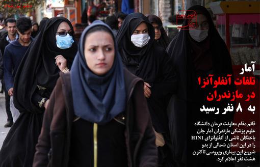 آمار تلفات آنفولانزا در استان مازندران