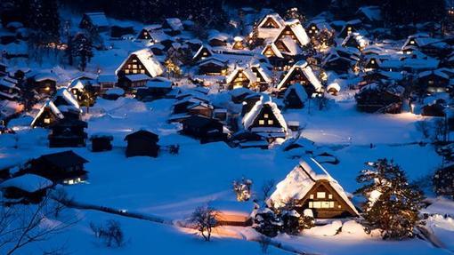 روستای شیراکاوا در استان گیفو در جزیره هونشو در ژاپن