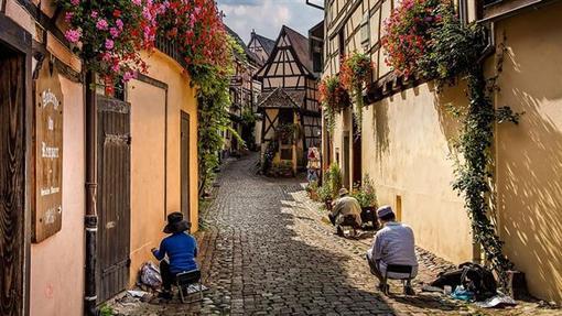 روستای اگوییسهایم در شمال شرق فرانسه