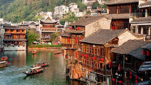 روستای فنگ هوانگ در استان هونان در جنوب شرق چین