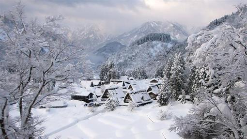 روستای گوکایاما در منطقۀ نانتو در استان تویاما در کشور ژاپن