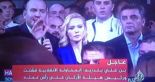 شبکه دولتی TRT ترکیه پس از آزادسازی توسط طرفداران اردوغان