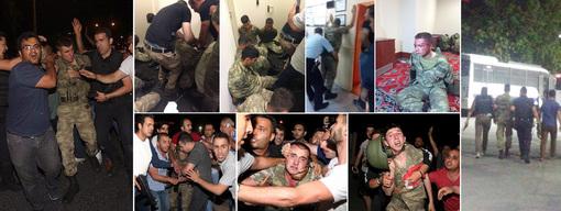 تصاویر شماری از سربازان کودتاچی دستگیر شده