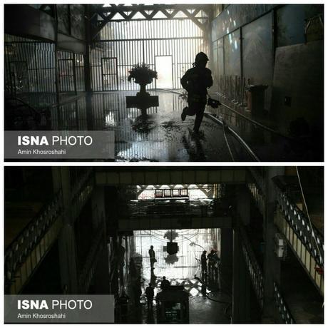 تصاویری از داخل پلاسکو درهتگام آتشسوزی