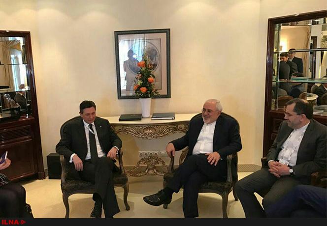دیدار و گفتوگوی محمد جواد ظریف وزیر امور خارجه جمهوری اسلامی ایران با رئیس جمهور اسلوونی در حاشیه کنفرانس امنیتی مونیخ نیز لحظاتی پیش انجام شد.