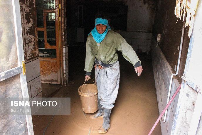 شهر سیل زده بردسیر در کرمان