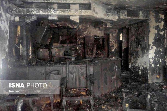 حریق ساختمان درمشهد با ۲ کشته و ۲۰ زخمی