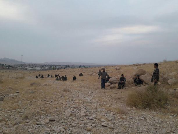 استقرار ماموران در حومه روستای ملک آباد در پی درگیری های خونین روز گذشته