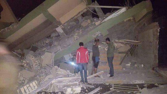 سلیمانیە در اقلیم کردستان و آسیبها و خسارات زلزله امشب
