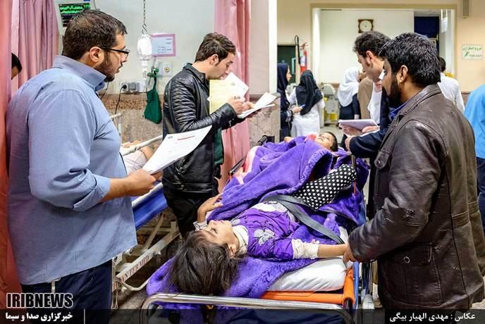 انتقال مصدومان زلزله کرمانشاه به کرج