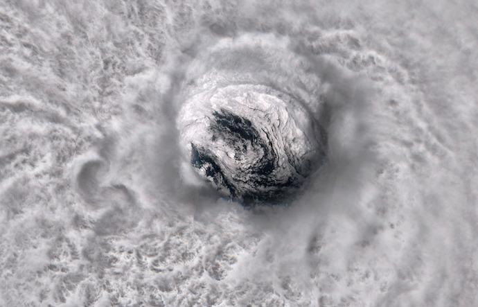 تصویری از طوفان هوریکانا خوزه. این عکس توسط آژانس هوایی اروپا گرفته شده است.
