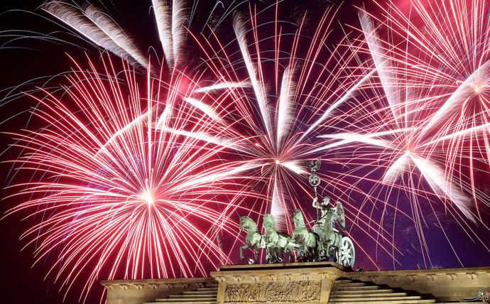 آتش بازی سال نو در برلین- آلمان