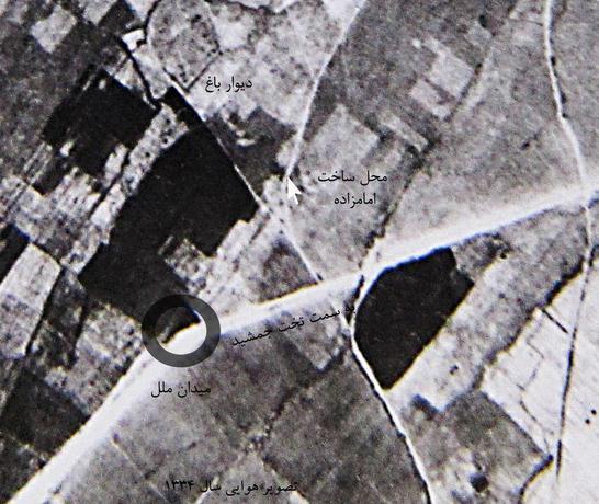 از جمله مستندات ارائه شده توسط منتقدان، این تصویر هوایی است که سال 1334 توسط سازمان جغزافیایی ارتش تهیه شده و بر اساس آن هیچ نشانی از امامزاده مورد ادعای اداره اوقاف فارس وجود ندارد.