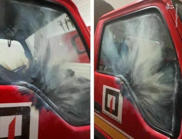 پرتاب نارنجک به سمت ماشین آتشنشانی/ مشهد