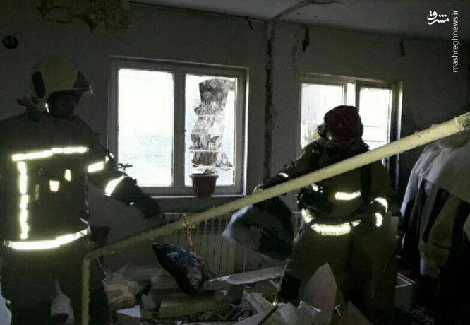 انفجار مواد محترقه در خانه مسکونی در پیکانشهر تهران