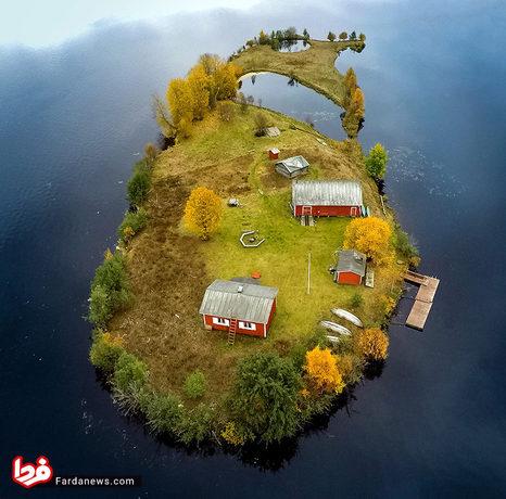 چهار عکس استثنایی از تغییر فصول در یک جزیره